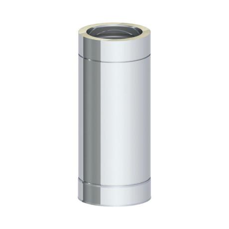 Abgasrohr Edelstahl 150 mm x 500 mm