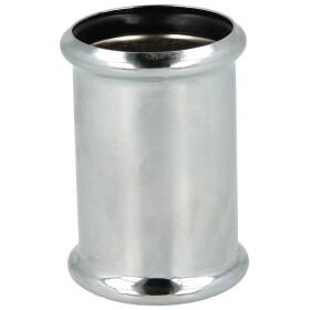 Doppelmuffe Messing verchromt 32 x 32 mm mit 2x O-Ringen Siphon Doppelmuffe