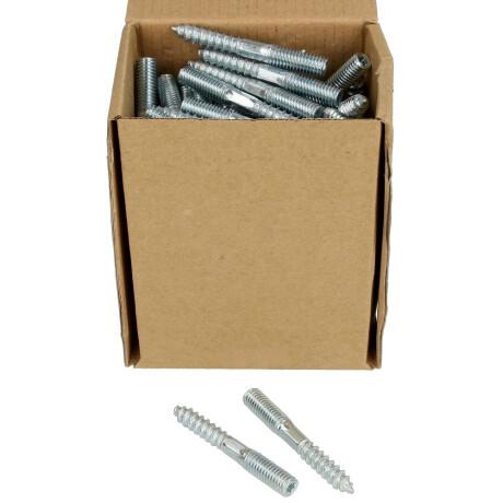 Paket 10x Stockschrauben M8 120 mm verzinkt für Rohrschellen