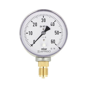 Kapselfedermanometer Gas 0 - 60 mbar